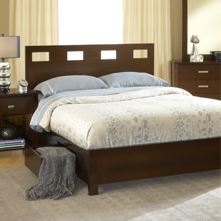 Rectangular Cutout 4-drawer Chocolate Brown Storage Bed