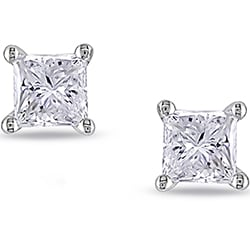Miadora 18k White Gold 1ct TDW Diamond Stud Earrings (G-H, VS1-VS2)