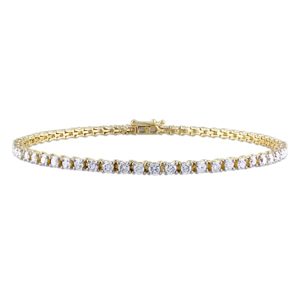 Miadora 14k Yellow Gold 3ct TDW Diamond Tennis Bracelet (G-H, I1-I2)