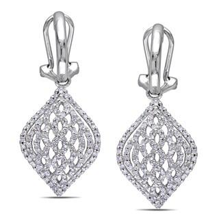 Miadora 14k White Gold 4/5ct TDW Diamond Earrings (G-H, I1-I2)