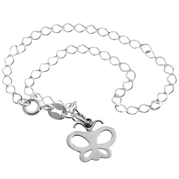 Journee Collection Sterling Silver Butterfly Bracelet