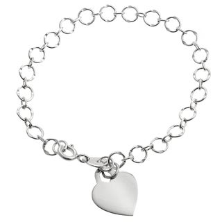 Tressa Collection Sterling Silver Heart Bracelet