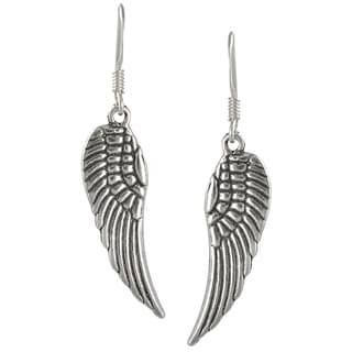 Tressa Collection Sterling Silver Angel Wing Dangle Earrings