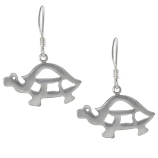 Tressa Collection Sterling Silver Turtle Dangle Earrings