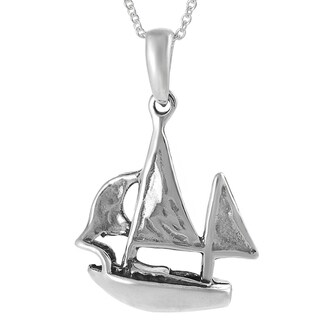 Tressa Collection Sterling Silver Boat Necklace