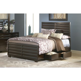 Ebony Scalloped 2-drawer Storage Bed