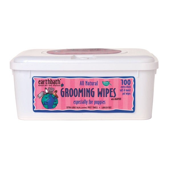 Earthbath Puppy Grooming Wipes (Pack of 100)