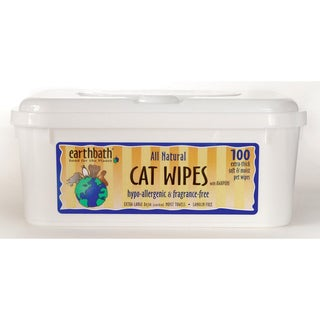 Earthbath Hypo-Allergenic Cat Wipes (100-count)
