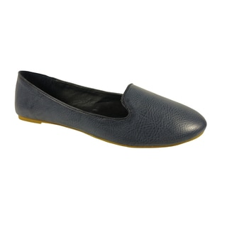 Betani by Beston Navy Blue Women's Smoking Flats