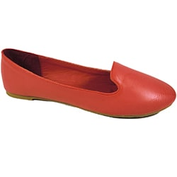 Betani by Beston Red Women's Smoking Flats