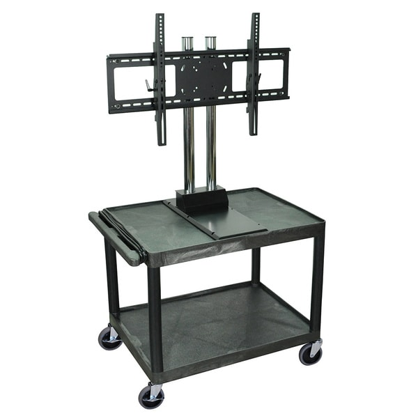 H.Wilson Contemporary Black Tuffy Mobile Video Cart with Universal Flat Panel Moun