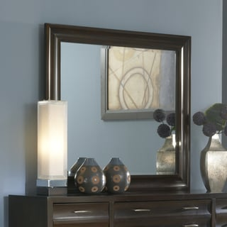 Domusindo Ebony Scalloped Beveled Glass Mirror
