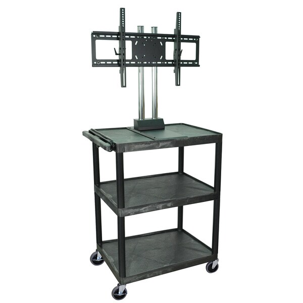 H.Wilson Black Tuffy Mobile Video Cart with Universal Flat Panel Mount