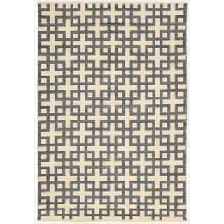 Barclay Butera by Nourison Maze Dove Flatweave Rug (5'3 x 7'5)