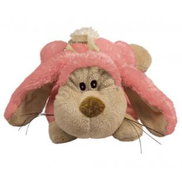 KONG Plush Pink Cozie Floppy Bunny Dog Toy