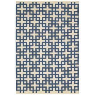 Barclay Butera by Nourison Maze Indigo Flatweave Rug (7'9 x 10'10)