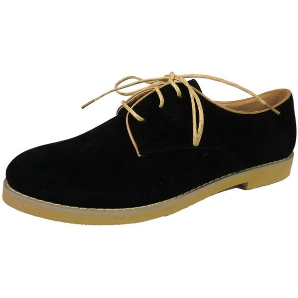 Betani by Beston Women's 'Patty' Black Oxford Shoes