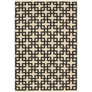 Barclay Butera by Nourison Maze Midnight Flatweave Rug (7'9 x 10'10)