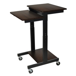 Luxor Walnut Adjustable Height Computer Workstation