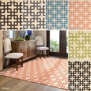 Nourison Barclay Butera Maze Flatweave Rug (7'9 x 10'10)