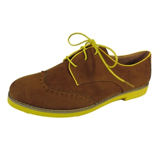 Betani by Beston Women's 'Patty' Tan Oxford Shoes