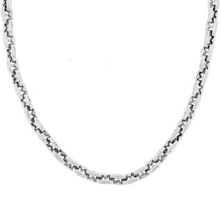 Stainless Steel Men's 22-inch Link Necklace