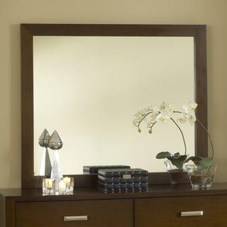 Chocolate Brown Modern Mirror
