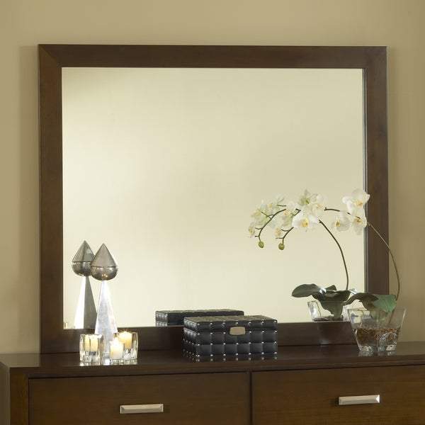 Chocolate Brown Modern Mirror