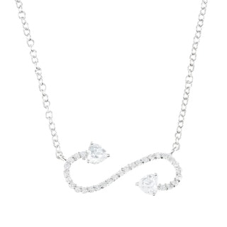 La Preciosa Sterling Silver Cubic Zirconia Enchant Scroll Necklace
