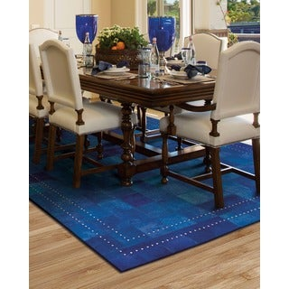 Barclay Butera by Nourison Medley Leather Ink Rug (8' x 11')