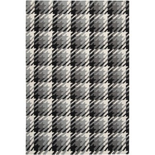 Hand-woven Langley Grey Wool Rug (9' x 13')