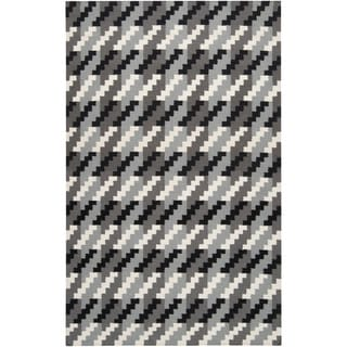 Handwoven Merritt Grey Wool Rug (9' x 13')