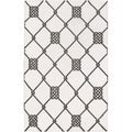 Handwoven Surrey White Wool Rug (2&#39; x 3&#39;)
