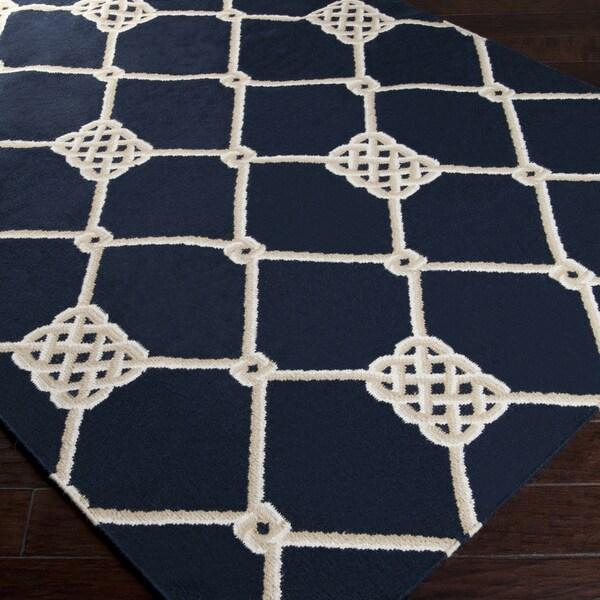 Handwoven Selkirk Blue Wool Rug (5' x 8')