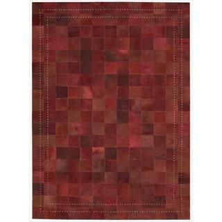 Barclay Butera by Nourison Medley Leather Scarlet Rug (4' x 6')