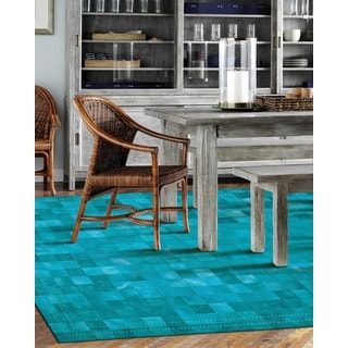 Barclay Butera by Nourison Medley Leather Sky Rug (8' x 11')