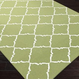 Handwoven Winnipeg Green Wool Rug (5' x 8')