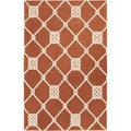 Handwoven Trail Orange Wool Rug (8' x 11')