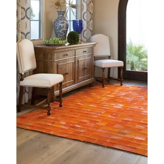 Barclay Butera by Nourison Medley Leather Tangerine Rug (8' x 11')