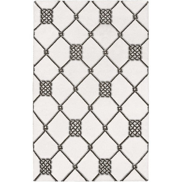Hand-woven Surrey White Wool Rug (3'6 x 5'6)