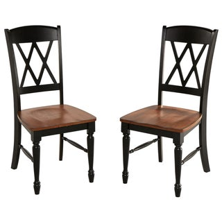 Monarch Double X-back Dining Chairs (Set of 2)