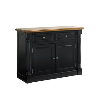 Monarch Oak/Black Buffet