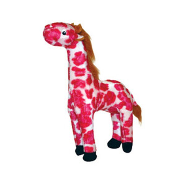 VIP Tuffys Safari Series Pink Giraffe Pet Toy