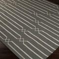 Hand-woven Lelystad Grey Wool Rug (5' x 8')