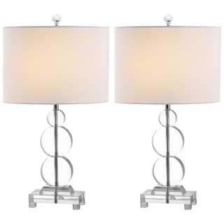 Indoor 1-light Moira Crystal Table Lamps (Set of 2)