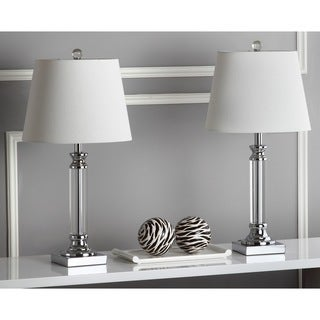 "Safavieh Lighting 24-inch Zara Crystal Table Lamp (Set of 2) - 12""x12""x24"""