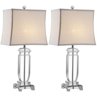 Indoor 1-light Olympia Crystal Table Lamps (Set of 2)