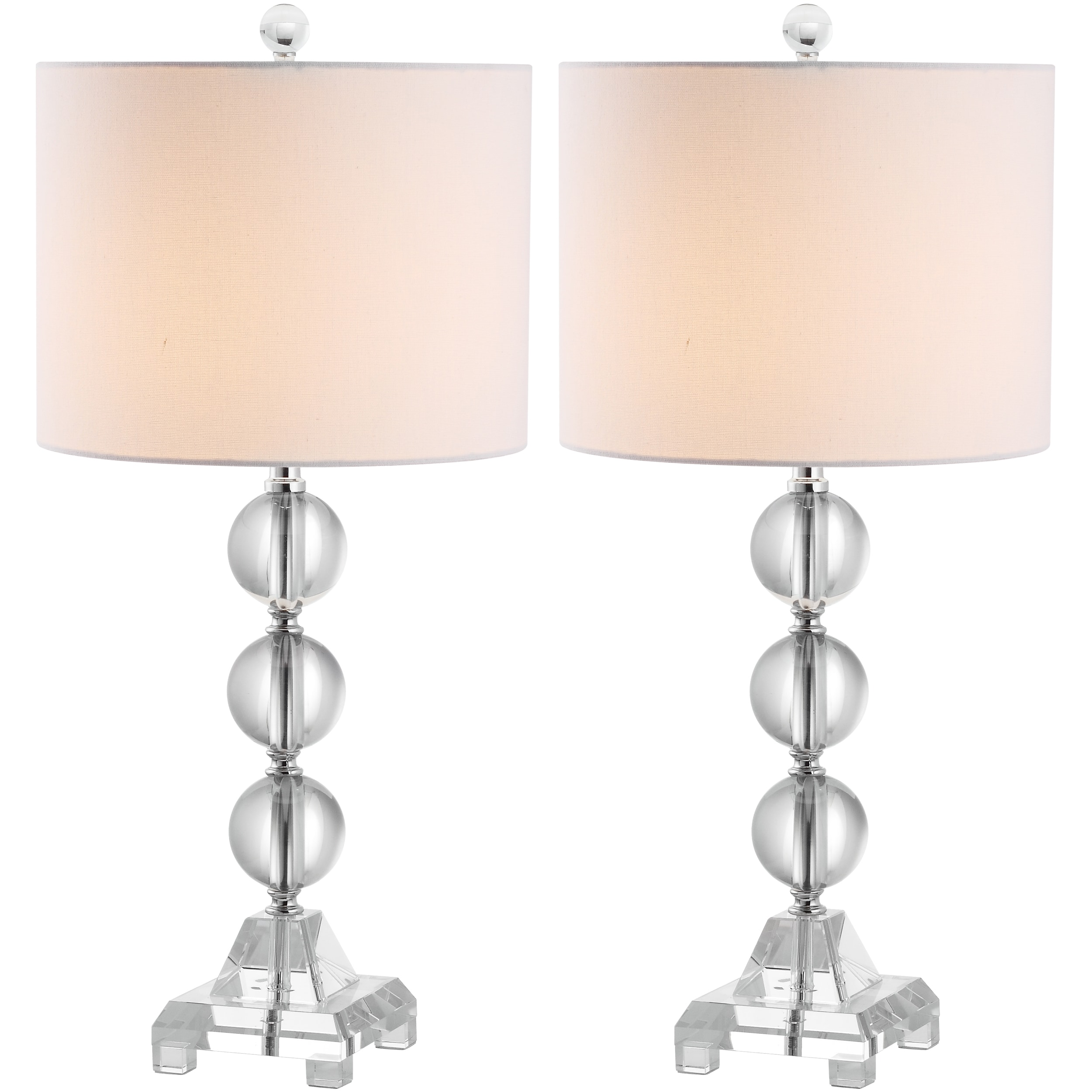 Indoor 1-light Fiona Crystal Table Lamps (Set of 2)