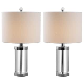 Indoor 1-light Laurie Crystal Table Lamps (Set of 2)