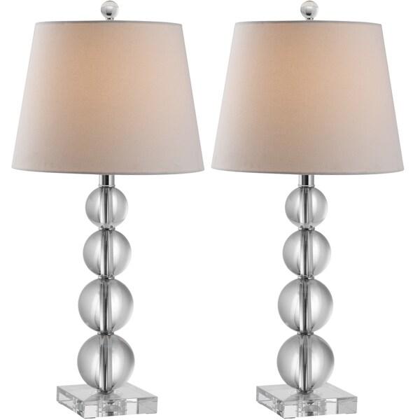 safavieh lighting 26 5 inches millie crystal table lamps set of 2. Black Bedroom Furniture Sets. Home Design Ideas